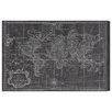 Oliver Gal 'World Map 1778' by Art Remedy Graphic Art Wrapped on Canvas