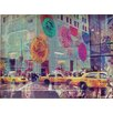 Oliver Gal 'NYC Fashion Taxi' Graphic Art Wrapped on Canvas