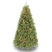 Puleo International 7.5' Green Pine Artificial Christmas Tree with 800 Clear & White Lights with Stand