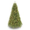 Puleo International 7.5' Green Artificial Christmas Tree with 800 Clear Lights with Stand