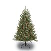 Puleo International 4.5' Green Artificial Christmas Tree with 250 Multi Lights with Stand