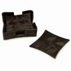 Natori Wood Grain 4 Piece Coaster Set