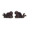 Cherub Lying Down 2-Piece Statue Set - Melrose Intl. Garden Statues and Outdoor Accents