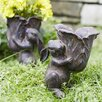 Rabbit Carrying Cabbage Bowl 2-Piece Statue Set - Melrose Intl. Garden Statues and Outdoor Accents