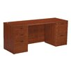 OSP Furniture Napa Double Pedestal Kneespace Credenza Desk