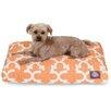 Trellis Rectangular Pet Bed Color: Peach, Size: Medium (44