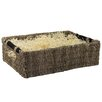 CandiGifts Wooden Handles Seagrass Storage Basket