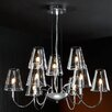 Schuller Silba 9 Light Chandelier