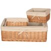 House Additions Willow Storage Basket 4 Piece Set