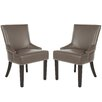 Safavieh Trenton Solid Birch Upholstered Dining Chair (Set of 2)