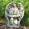 Kneeling Angel Bfeeder Statue - Napco Marketing Corp Garden Statues and Outdoor Accents