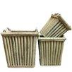 Highlands 3 Piece Wood Planter Box Set - Bayou Breeze Planters