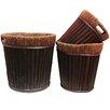 Hillsdale Round 3 Piece Willow Pot Planter Set - Bayou Breeze Planters