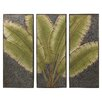 Quan Leaves Tryptic Wall Decor - Bayou Breeze Garden Statues and Outdoor Accents