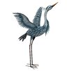 Trong Metallic Heron Statue - Bayou Breeze Garden Statues and Outdoor Accents