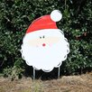 Santa Face Yard Garden Art - Southern Steel Designs Garden Statues and Outdoor Accents