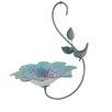 Metallic Hanging Glass Decorative Bird Feeder - Color: Aspen Blue - Continental Art Center Bird Feeders