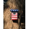 Stars and Stripes 12 inch x 6 inch x 5.5 inch Birdhouse - Pop-Up Garden Birdhouses