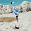 Chunn Metal Heron Statue - Rosecliff Heights Garden Statues and Outdoor Accents