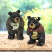 Peery Grandma and Grandpa Bear 2 Piece Statue Set - Loon Peak Garden Statues and Outdoor Accents