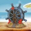 Browder Solar Nautical Rudder House Fairy Garden - Longshore Tides Garden Statues and Outdoor Accents