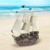 Brower Solar Ship Statue - Longshore Tides Garden Statues and Outdoor Accents