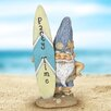 Chung Surfing Beach Bum with Surfboard Statue - Rosecliff Heights Garden Statues and Outdoor Accents