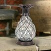 Barnes Solar Bronze Pineapple LED Firefly Decorative Lantern - Bay Isle Home Garden Statues and Outdoor Accents