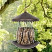Solar Bronze Diamond Glass Decorative Bird Feeder - Exhart Bird Feeders