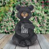 Reber Solar Bear with Firefly Jar Statue - Loon Peak Garden Statues and Outdoor Accents
