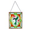 Roby Hummingbird Suncatcher with Stained Glass Look - Astoria Grand Garden Statues and Outdoor Accents