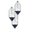 Tain Metal Wall Planter - Color: Navy Blue - Kate and Laurel Planters