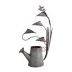 Water Can and Anthurium Hummingbird Metal Fountain - Melrose Intl. Indoor and Outdoor Fountains