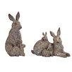 Jarnagin Rabbit Family Statue - Alcott Hill Garden Statues and Outdoor Accents