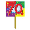 Gadson Birthday Garden Sign - Number: 70 - The Holiday Aisle Garden Statues and Outdoor Accents