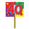 Gadson Birthday Garden Sign - Number: 40 - The Holiday Aisle Garden Statues and Outdoor Accents