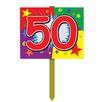 Gadson Birthday Garden Sign - Number: 50 - The Holiday Aisle Garden Statues and Outdoor Accents