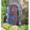 Miniature Flower Swirl Door Fairy Garden - Plow & Hearth Garden Statues and Outdoor Accents