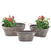 Oval 3-Piece Iron Pot Planter Set - Zaer Ltd International Planters