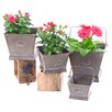 Square 4-Piece Iron Pot Planter Set - Zaer Ltd International Planters