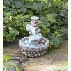 Miniature Stone Fountain Fairy Garden - Plow & Hearth Garden Statues and Outdoor Accents