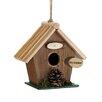 Pine Cone Rustic Wood 7 inch x 8 inch x 4 inch Birdhouse - Zingz & Thingz Birdhouses