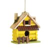 Log Home 7.5 inch x 7.5 inch x 4 inch Birdhouse - Zingz & Thingz Birdhouses