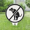 Kroger No Dog Poop Garden Sign - Color: White/Black - Symple Stuff Garden Statues and Outdoor Accents