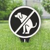 Kroger No Dog Poop Garden Sign - Color: Black/White - Symple Stuff Garden Statues and Outdoor Accents
