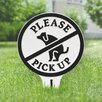 Kroeker Please Pick up Garden Sign - Color: White/Black - Symple Stuff Garden Statues and Outdoor Accents