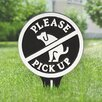 Kroeker Please Pick up Garden Sign - Color: Black/White - Symple Stuff Garden Statues and Outdoor Accents
