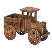 Teter Rustic Truck Wood Wheelbarrow Planter - Millwood Pines Planters