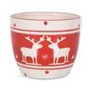 Reindeer Print Dolomite Pot Planter - The Holiday Aisle Planters
