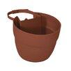 Bloomers Plastic Railing Planter - Color: Terracotta - EMSCO Group Planters